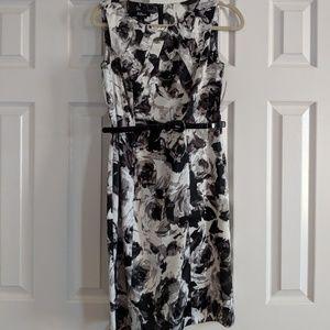 NWT Black and white floral sheath dress